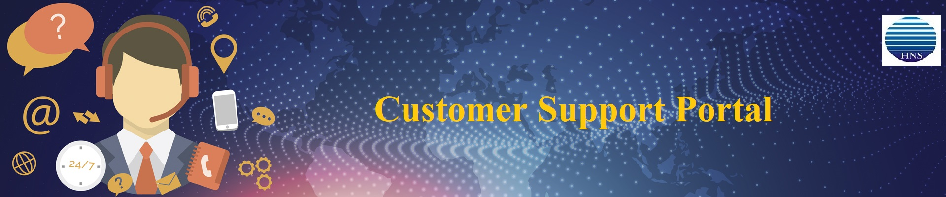 Customer Support Portal header - with hns
